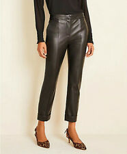 Ann Taylor The High Waist Ankle Pants in Black Faux Leather Size 8 nwt