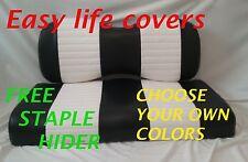 CLUB CAR PRESIDENT GOLFCART CUSTOM SEAT COVERS FRONT&REAR COMBO STAPLE#60T.S.Q.B