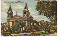 FLORIANA MALTA PC Postcard ST PUBLIUS PARISH CHURCH Catholic MALTESE Europe