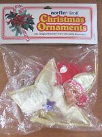 "Troll Doll 5"" Dam Norfin Christmas Ornament Norfstar Red Hair Brown Eyes NOS"