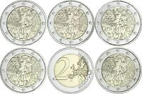 Deutschland 5 x 2 Euro 2019 Mauerfall bankfrischer Komplettsatz A D F G J