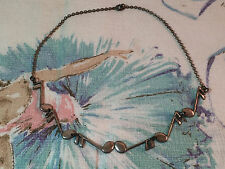 "Music Choker Necklace 14.75"" Long Vintage Sterling Silver Linked Sixteenth Notes"