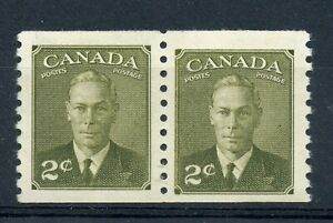 Weeda Canada 309i F/VF MLH/NH jump pair, 'LL corner flaw' variety on right stamp