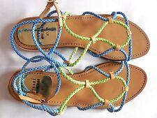 STUART WEITSMAN Cordy Electric Laniard Ankle Strap FlatSandalSpainSz8,5M Was$298
