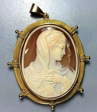 MUSEUM QUALITY VICTORIAN CAMEO BROOCH OF OUR LADY - MADONNA - LAYAWAY WELCOME!