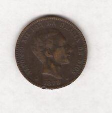 1878 Monedas España diez centimos
