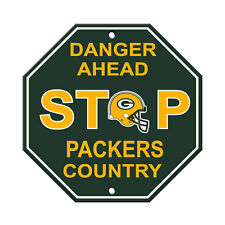 """New Green Bay Packers Country Danger Ahead STOP Sign 12""""X12"""" Octagon Made in USA"""