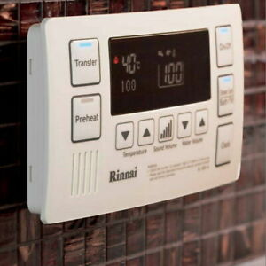 Rinnai Deluxe Bathroom Hot Cold Water Controller - White