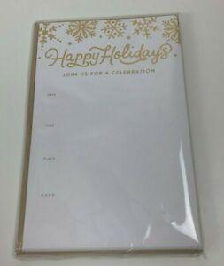 Christmas Happy Holidays Party Invites Invitations & Envelopes Celebration LOT 5