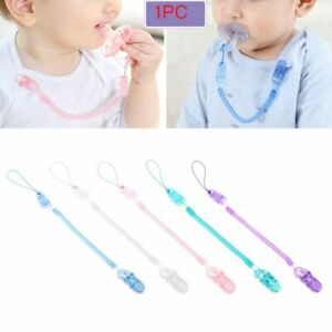 Chain Infant Soother Baby Teething Nipple Strap Dummy Clips Pacifier Chain