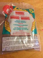 McDonalds Marvel Super Heroes Color Change Invisible Woman Figurine 1996 C1