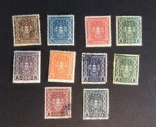Austria #288-#297, Mint, Hinged, OG, except #288, #294, #296-#297, Used, Hinged