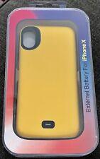 External Battery Case Iphone X Yellow