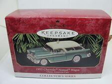 1999 CLASSIC AMERICAN CARS,#9,1955 CHEVROLET NOMAD WAGON, HALLMARK ORNAMENT