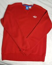 ADIDAS Mens Rare Vintage Floor Sample Trefoil Design Red Medium Sweat Shirt