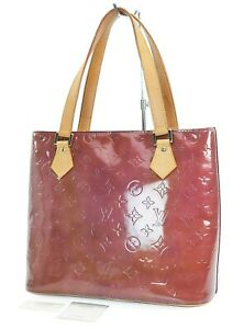 Authentic LOUIS VUITTON Houston Purple Vernis Tote Bag Purse #38169