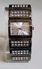 Breast Cancer Awareness Pink Ribbon Rhinestone black Hematite Fashion Watch