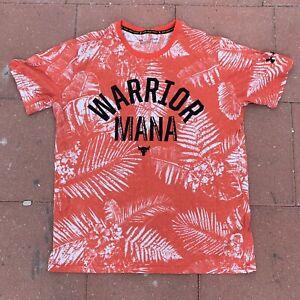 Project Rock Warrior Mana Under Armour Mens XL Hawaiian Red Tie Dye Shirt