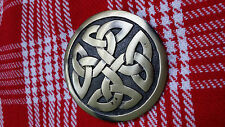 TC New Kilt Fly Plaid Brooch Celtic Design/Celtic Kilt Fly Plaid Brooch Antique