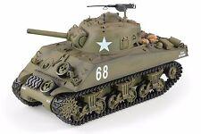 Heng 1:16 M4A3 Sherman Radio Control Long RC Batalla Tanque humo y sonido 2.4Ghz