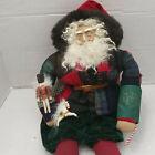 Vintage Old Santa Maker Dee Gann House Of Hatten Christmas Plush Doll Decor Big