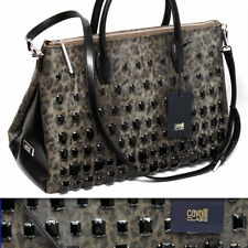 ROBERTO CAVALLI Ladies JEWELED BOWLING BAG w/ Certificate