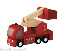 Plantoys 6234 Plancity Fire Brigade with Turntable Ladder New Wood! #