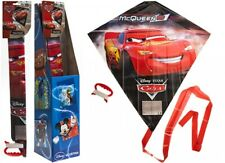 DISNEY CARS Flying Kite Childrens Kids Line Kites Outdoor Park Beach Fun Toy NEW