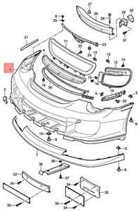 Genuine PORSCHE 911 Turbo Gt2 997 Trim 99750590180