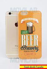 Funda carcasa gel silicona  Iphone 6 / 6S 4.7´ dibujo anuncio retro cerveza Beer