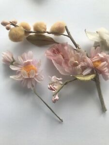 Vintage Daisy Millinery Flowers Pom Pom Doll Trim Embellishment Adornments