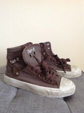 New listing Nat 2 Designer New Girls Trainers. Size UK 3.5. Distressed Brown. RRP £75