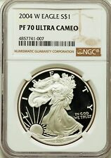 2004-W $1 Silver Eagle, Proof  NGC PF 70 Ultra Cameo