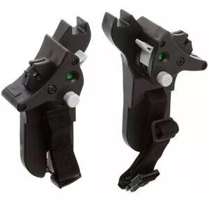 Baby Jogger City Mini ZIPCar Seat Adapter Graco Click Connect Black BJ92325 NEW