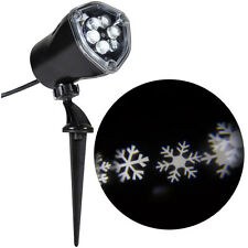 Gemmy Light Show LED White Snowflake Flurry Swirling Projection Christmas New