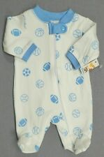 Baby Boy Clothes New Garanimals Preemie Blue Sports Footed Sleep N Play Outfit