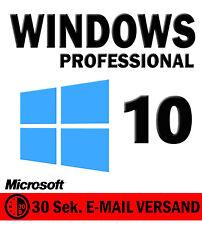 Microsoft Windows 10 Professional ✔ MS Win 10 Pro✔ 32/64 Bit ✔ NEU SOFORT E-Mail