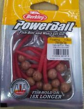"""Berkley PowerBait 3/8"""" scented Mice Tails Natural/Flor. Red"""