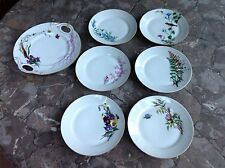 Vintage H&CO Christmas 1882 6 Plates,L Serving Plate,4 Cups Saucers All Signed M