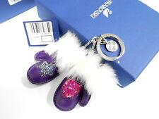 Swarovski Sassia Amethyst Key Ring Charm Pendant Crystal Authentic Mib - 1162684