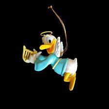 Disney Grolier Donald Duck Angel Playing Harp Christmas Magic Ornament