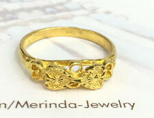 24K Solid Pure Gold Heart Band Ring 2.86 Grams. Size 6