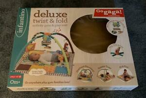 Infantino Go Gaga Deluxe Twist & Fold Activity Gym And Play Mat Baby Musical