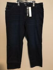 7f15fb3c Lee Platinum Label Womens Navy Denim Classic Straight Jeans Plus 18w BHFO  7270
