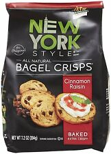 New York Style Cinnamon Raisin Bagel Chips 7.2 oz (3 Bags)