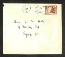 1961 Singapore 4 Cents Malaya Ship Queen Elizabath Stamp Chop Mail Cover (C1429)