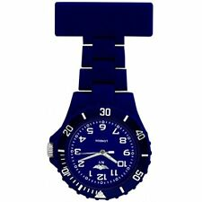 Prince London NY New York rubberised plastic nurses fob watch with pin - Dark Bl