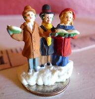 Christmas Miniature Victorian Village Trio  Carolers Grandeur Noel  1995