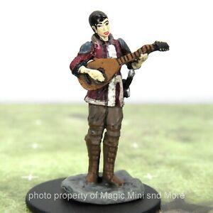 D&D Premium Miniatures W4 ~ HALF-ELF BARD Icons of the Realms miniature