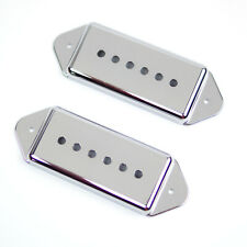 Replacement P-90 p90 Dog-ear Pickup Covers Set 50mm & 52mm, Chrome (Set of 2)